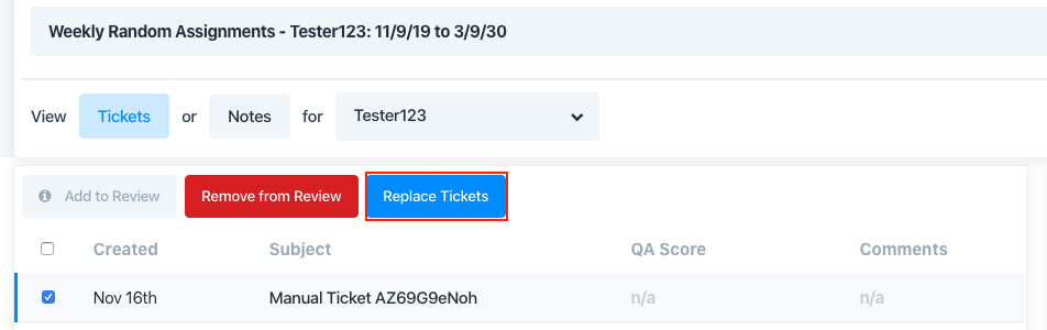 replace tickets