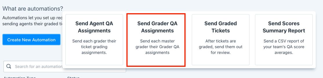 send grader qa assignments